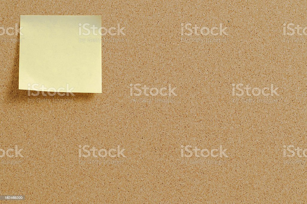 Cork pinboard with postit royalty-free stock photo