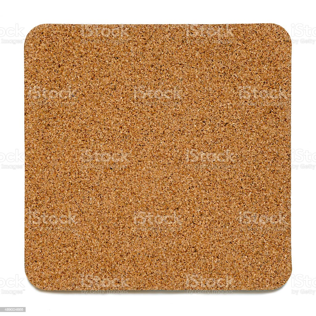 Cork plate isolated stock photo