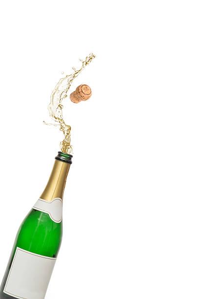 Korken aus der Flasche Champagner auffälligen – Foto