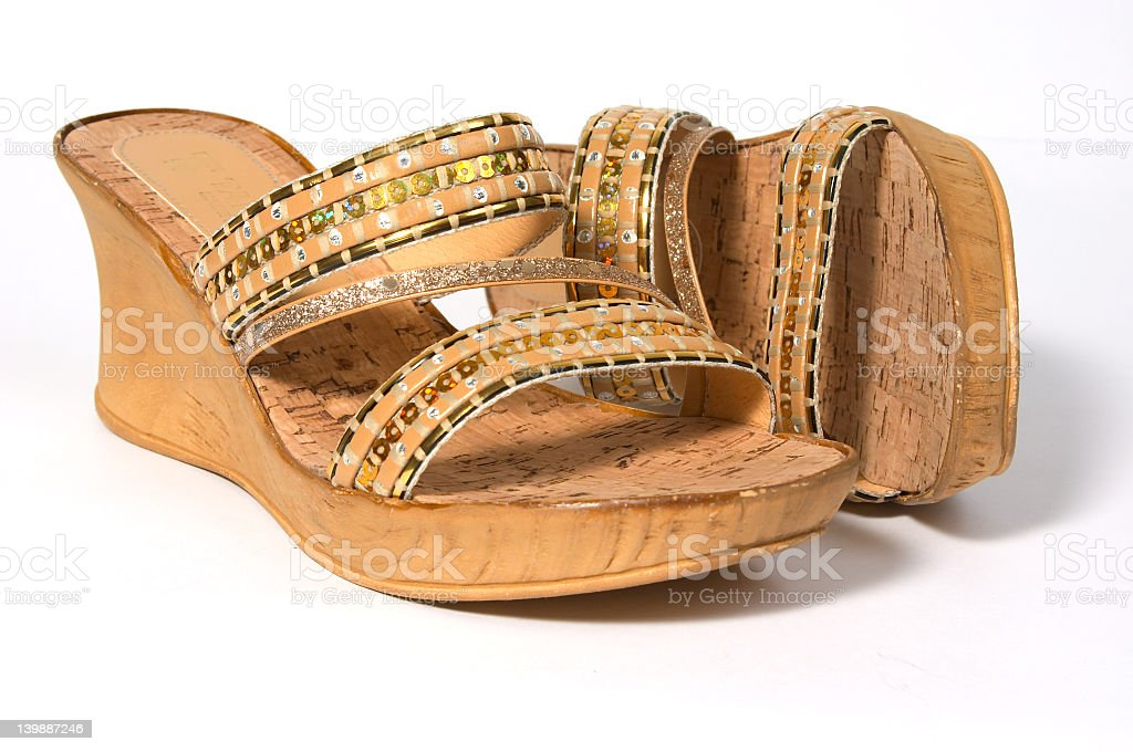Cork shoes. stock photo