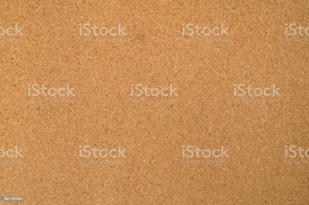 Corkboard fine-grained material texture stock photo