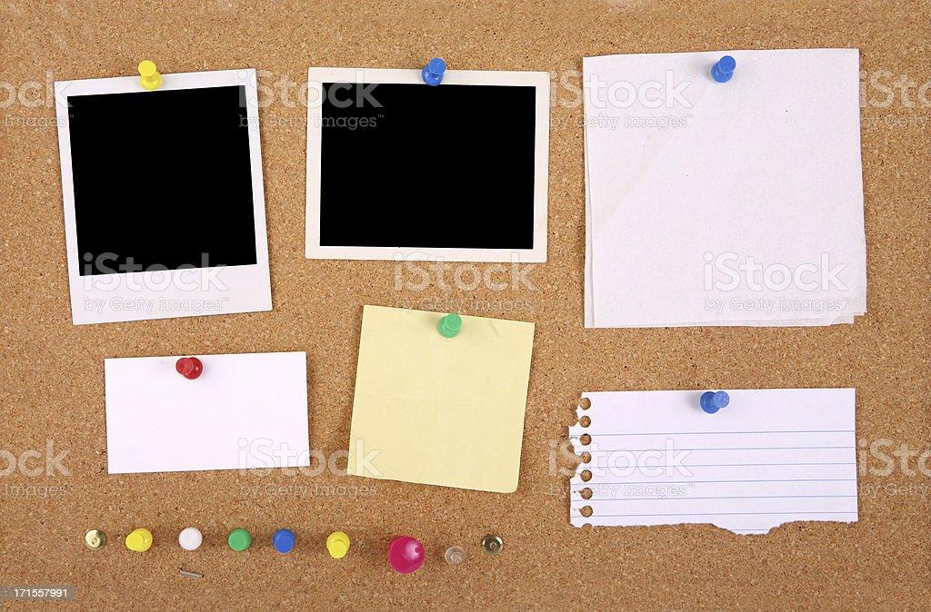Corkboard Interface Grunge royalty-free stock photo