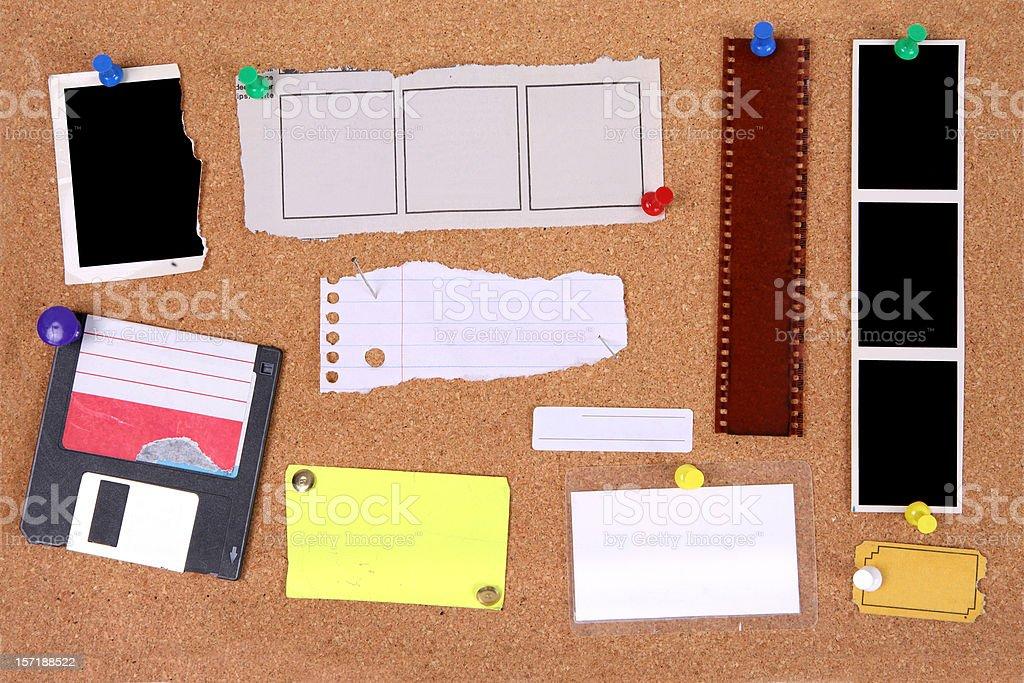 Corkboard Interface royalty-free stock photo