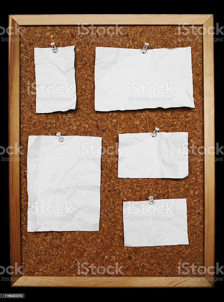 CorkBoard Notes royalty-free stock photo
