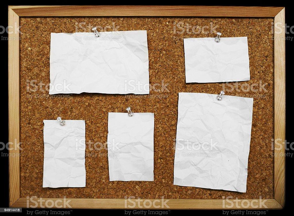 CorkBoard Notes royalty-free stock photo