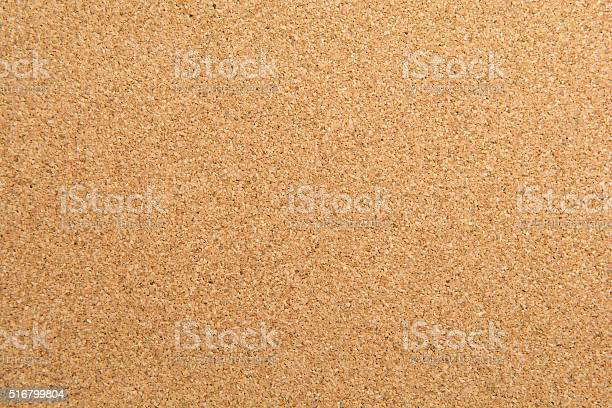horizontal view of a blank cork board texture