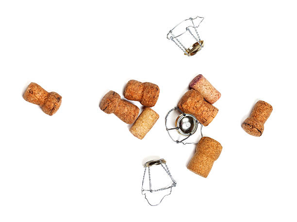 Tappi per vino e champagne muselets - foto stock