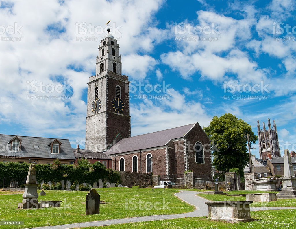 Cork's St. Anne's Church from the Graveyard stock photo