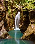 Beautiful hidden waterfall located in southern Ohio
