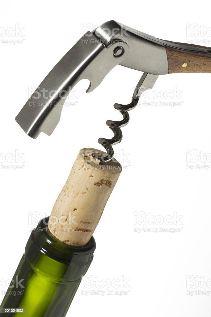 corkscrew opener stock photo