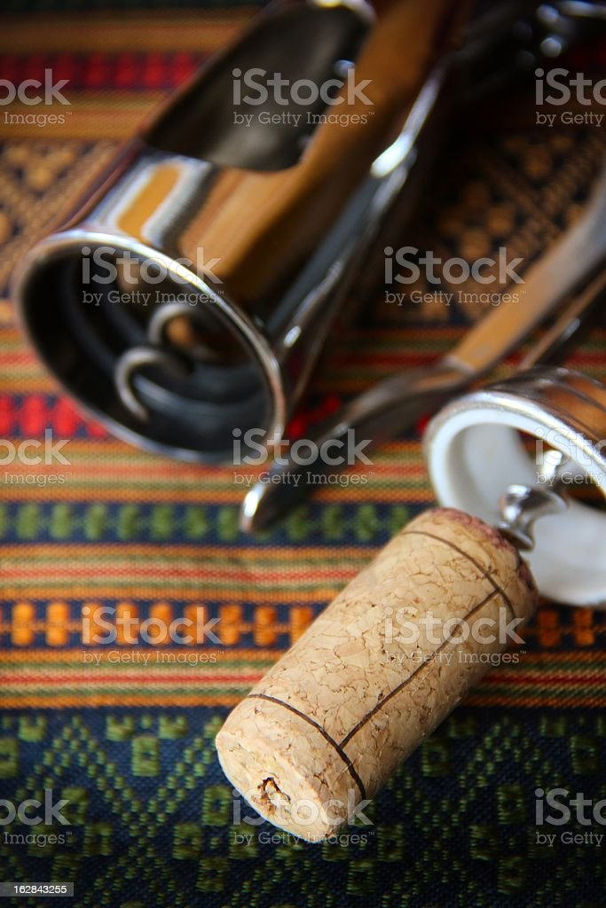 Corkscrews and Cork royalty-free stock photo