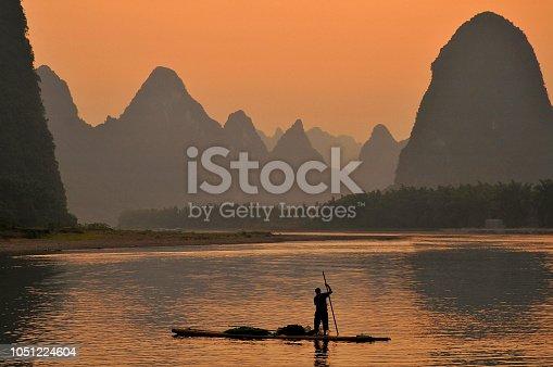 Cormorant Fisherman in the Lijang Li River Xingping Guilin province China.
