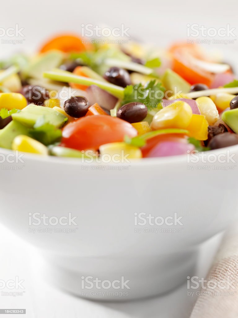 Corn and Black Bean Salad stock photo