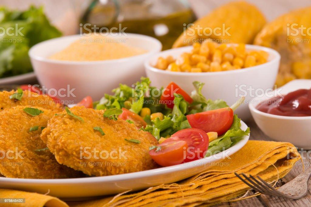 Mais-Burger. - Lizenzfrei Blatt - Pflanzenbestandteile Stock-Foto