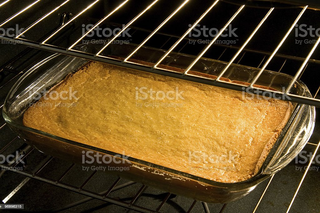 Corn Cake or Bread in Oven royalty-free stock photo