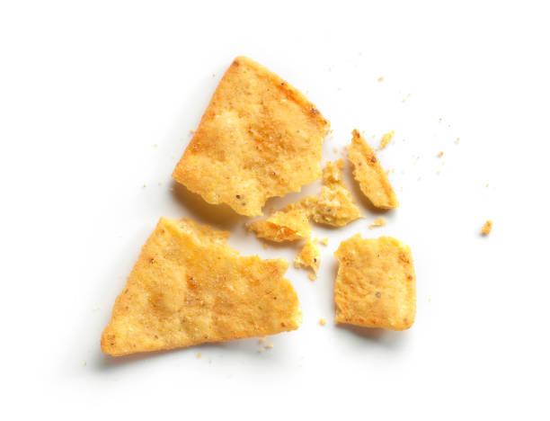 corn chips nachos - briciola foto e immagini stock