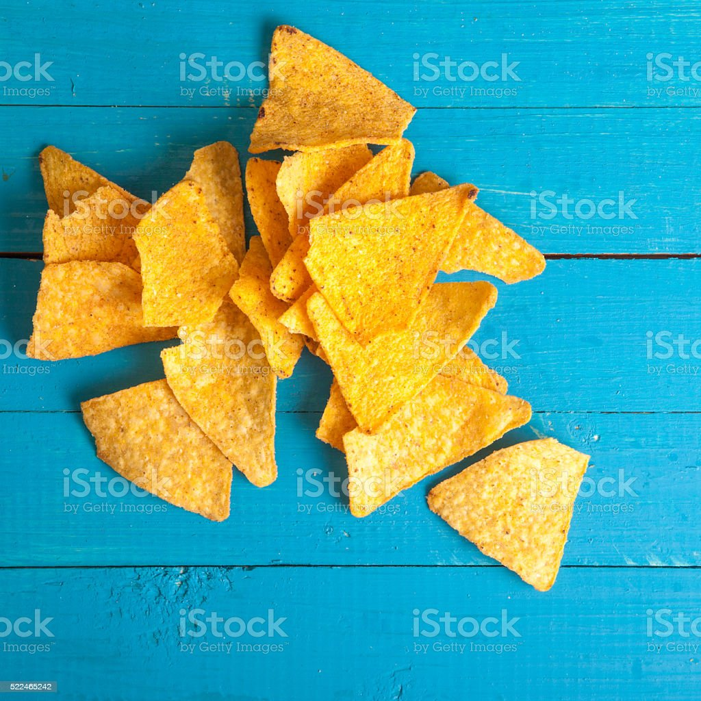 corn chips on the table stock photo