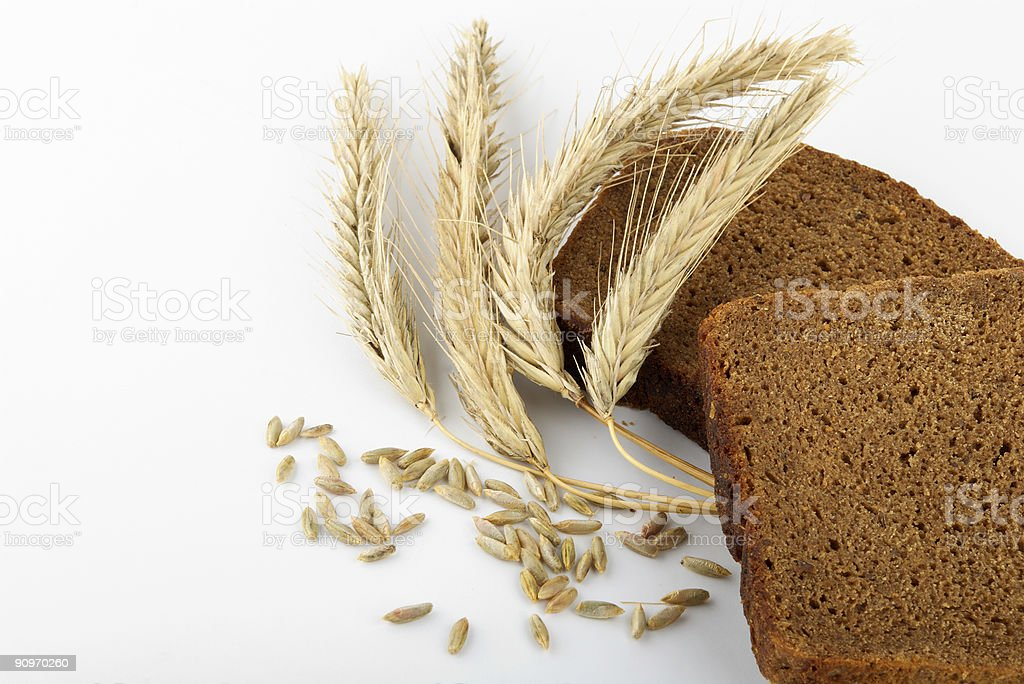 corn ears and bread royalty-free stock photo