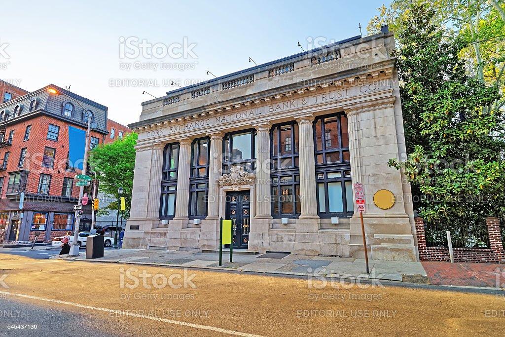 Corn Exchange National Bank Trust Company in Philadelphia PA stock photo