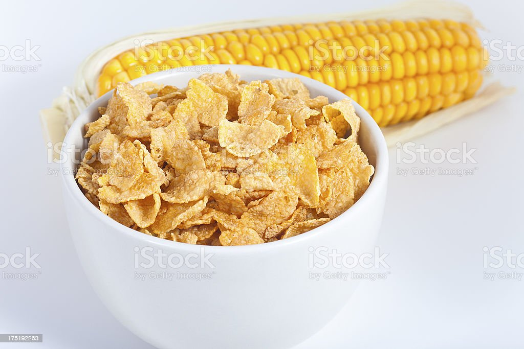 Corn Flaked Breakfast Cereal royalty-free stock photo