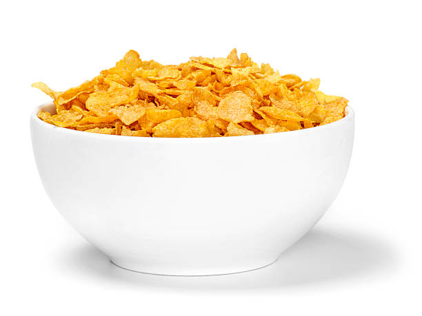 Corn Flaked Breakfast Cereal Corn Flaked Breakfast Cereal-Photographed on Hasselblad H1-22mb Camera cereal stock pictures, royalty-free photos & images