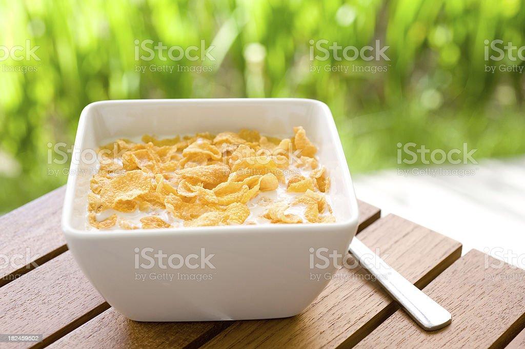 Corn Copos de Cereal de desayuno foto de stock libre de derechos