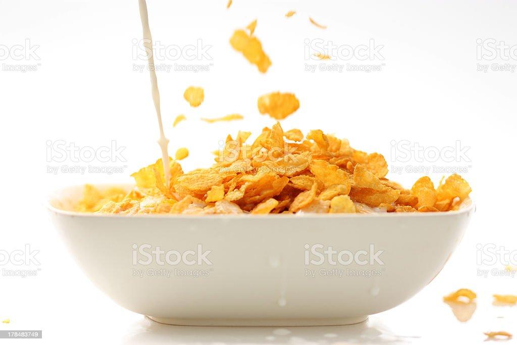 Corn Flakes and Milk royalty-free stock photo