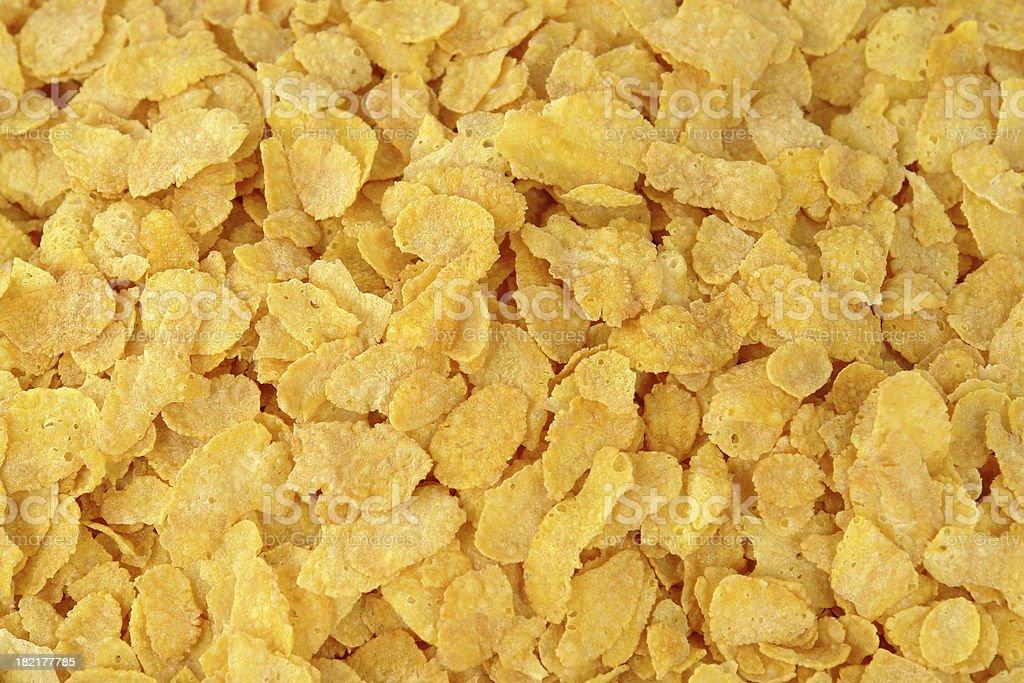 Corn flakes breakfast stock photo
