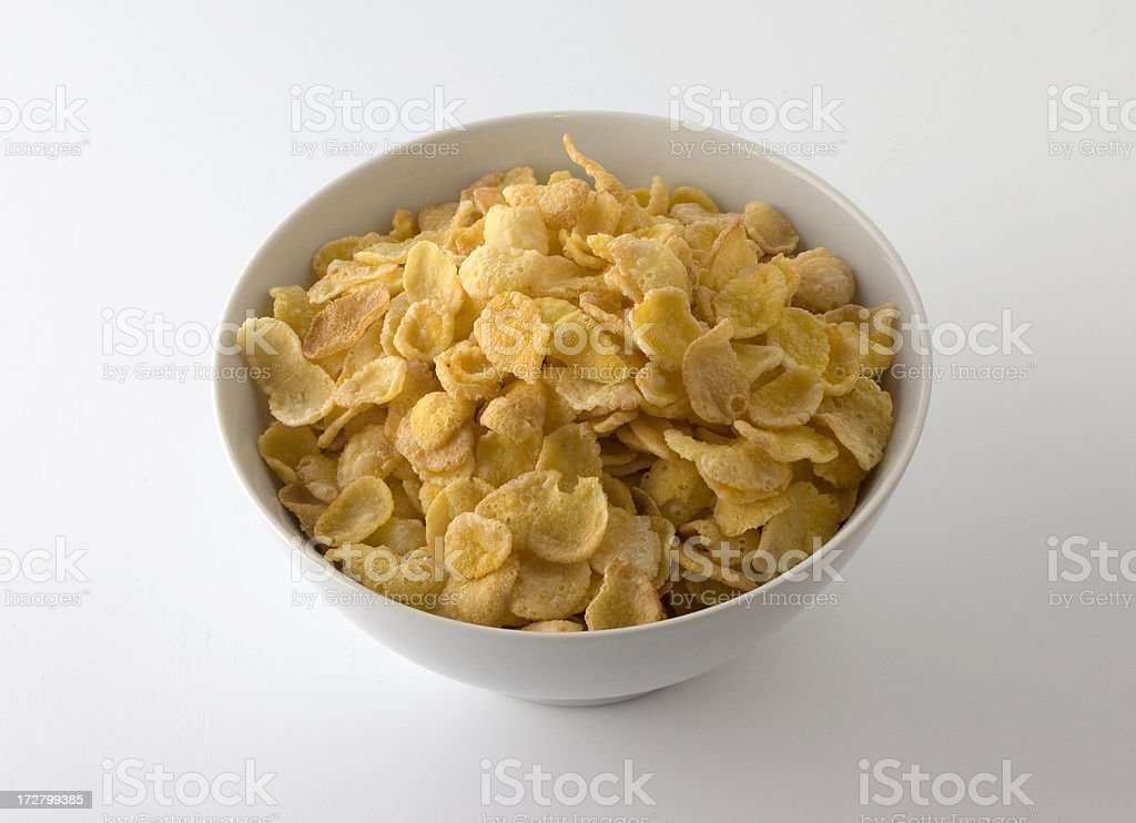 Corn Flakes w/Clipping Path royalty-free stock photo