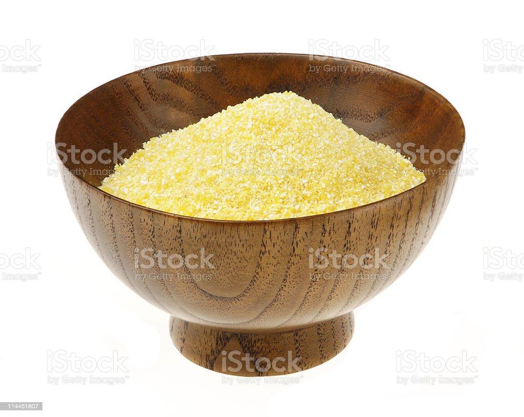 corn flour in a bowl stock photo