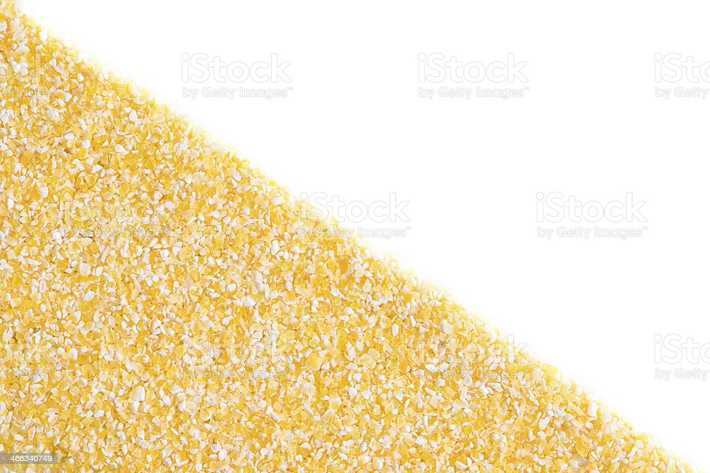 Corn grits on white background royalty-free stock photo