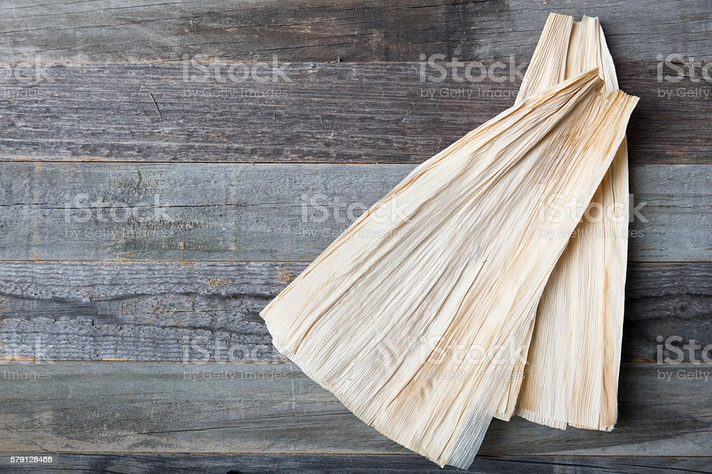 Corn Husks for Tamales stock photo