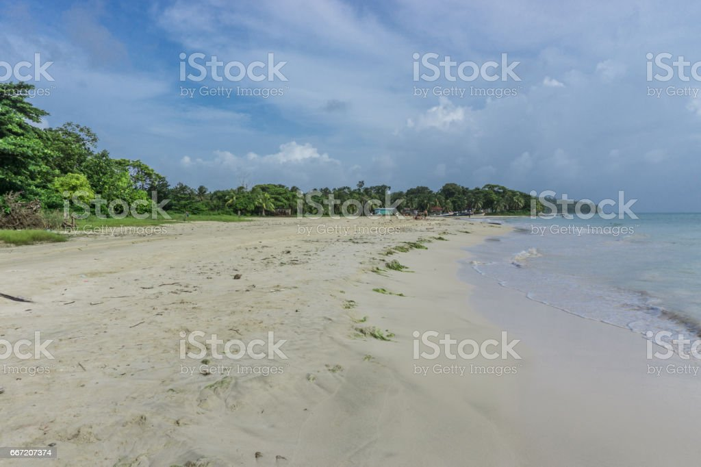 Corn island Beach, Nicaragua royalty-free stock photo