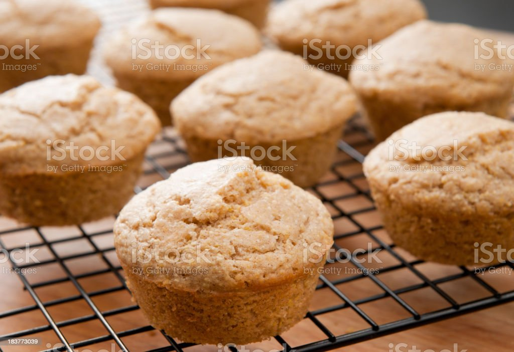 Corn Muffins on Cooling Rack royalty-free stock photo