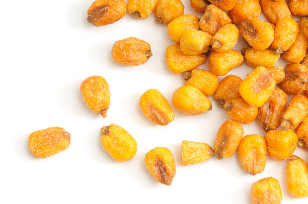 Corn nuts scattered stock photo