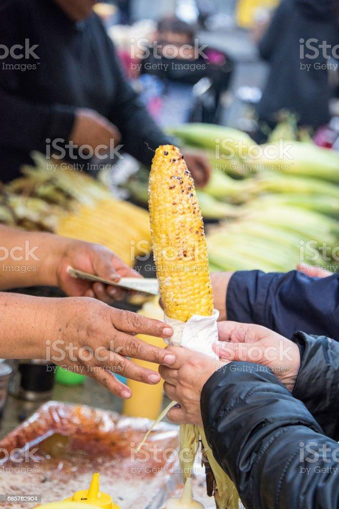 Corn on the cob zbiór zdjęć royalty-free