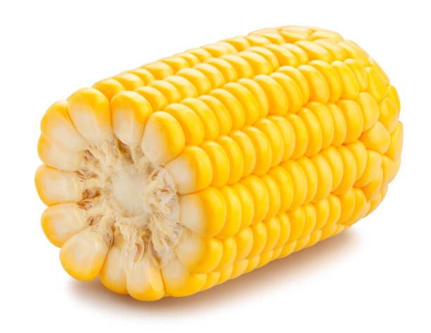 corn sliced corn path isolated sweetcorn stock pictures, royalty-free photos & images