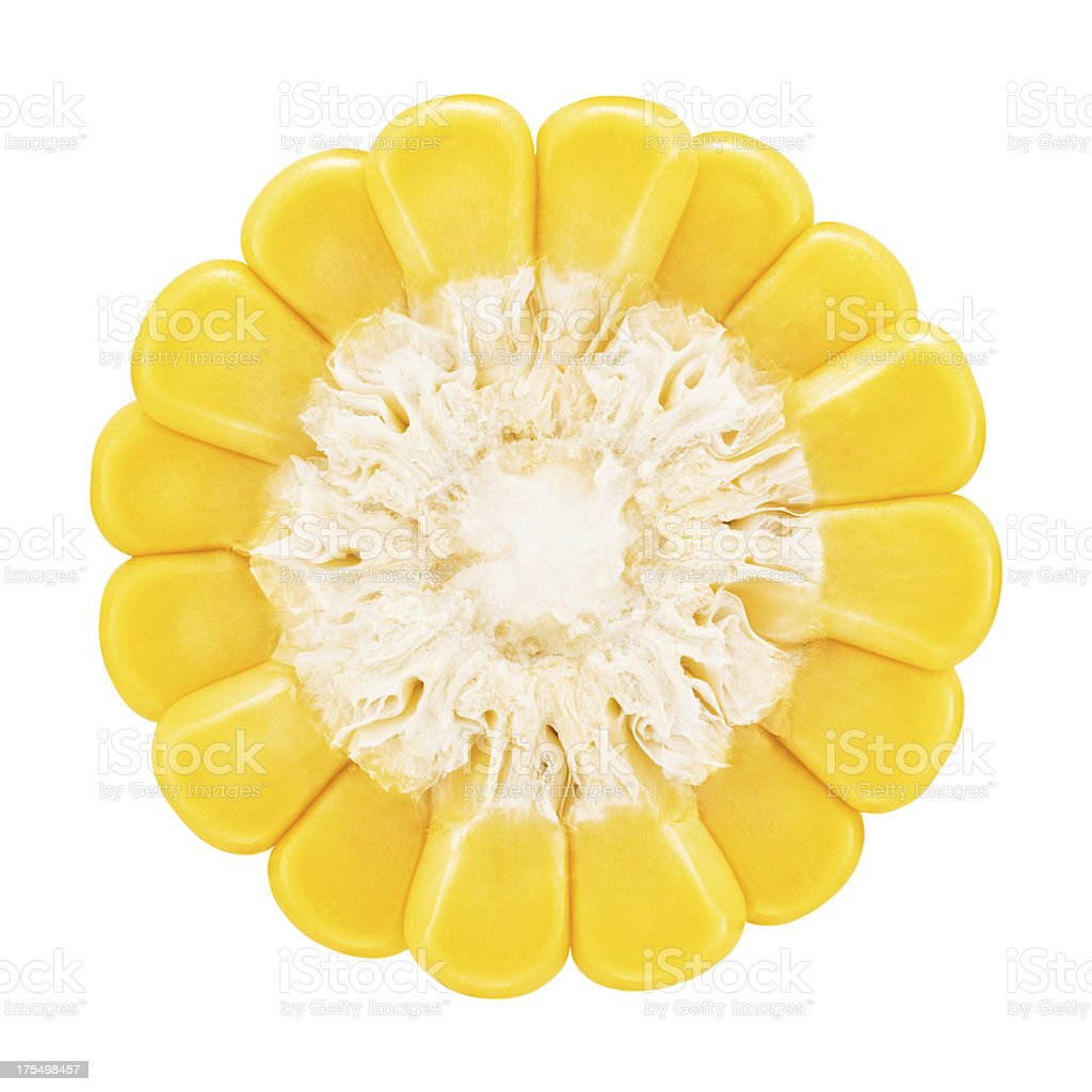 Corn portion on white stock photo