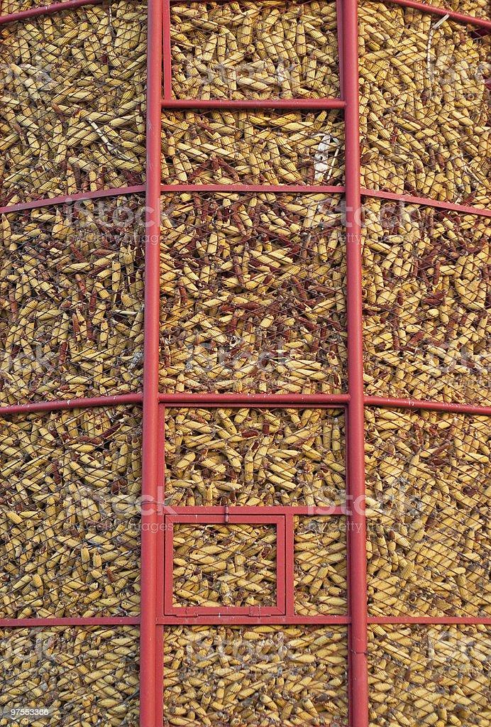 Stockage de maïs photo libre de droits