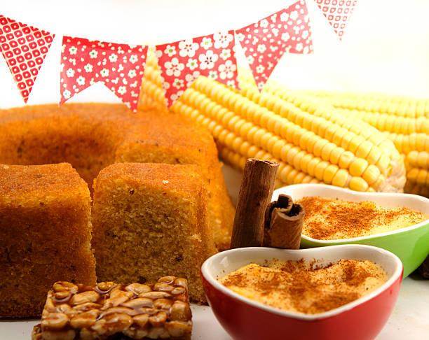 Corn sweets stock photo