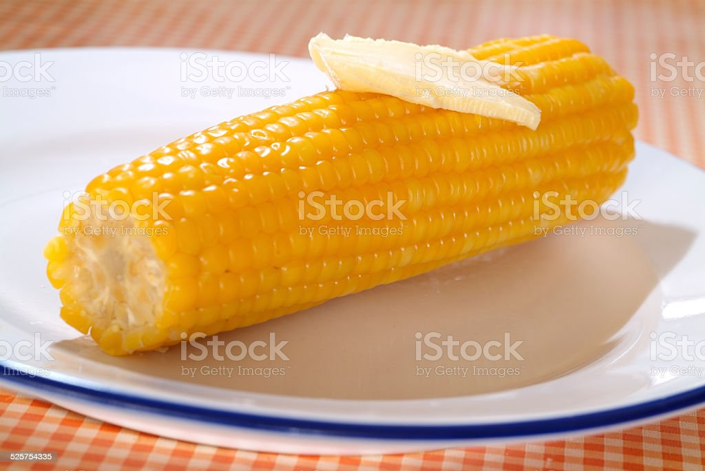 corn with butter stock photo