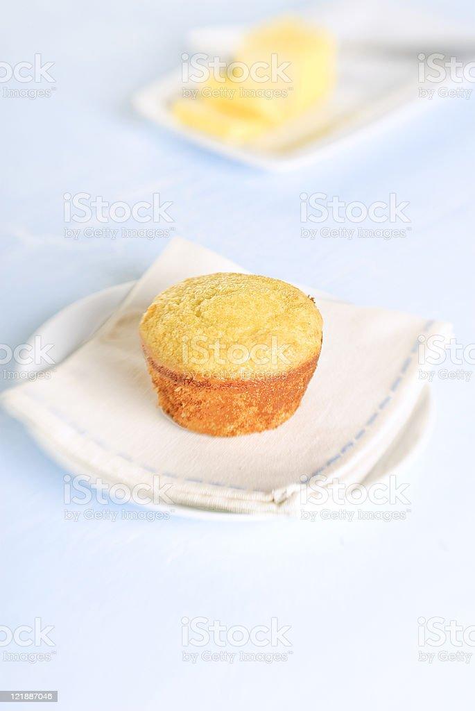 Cornbread Muffin royalty-free stock photo