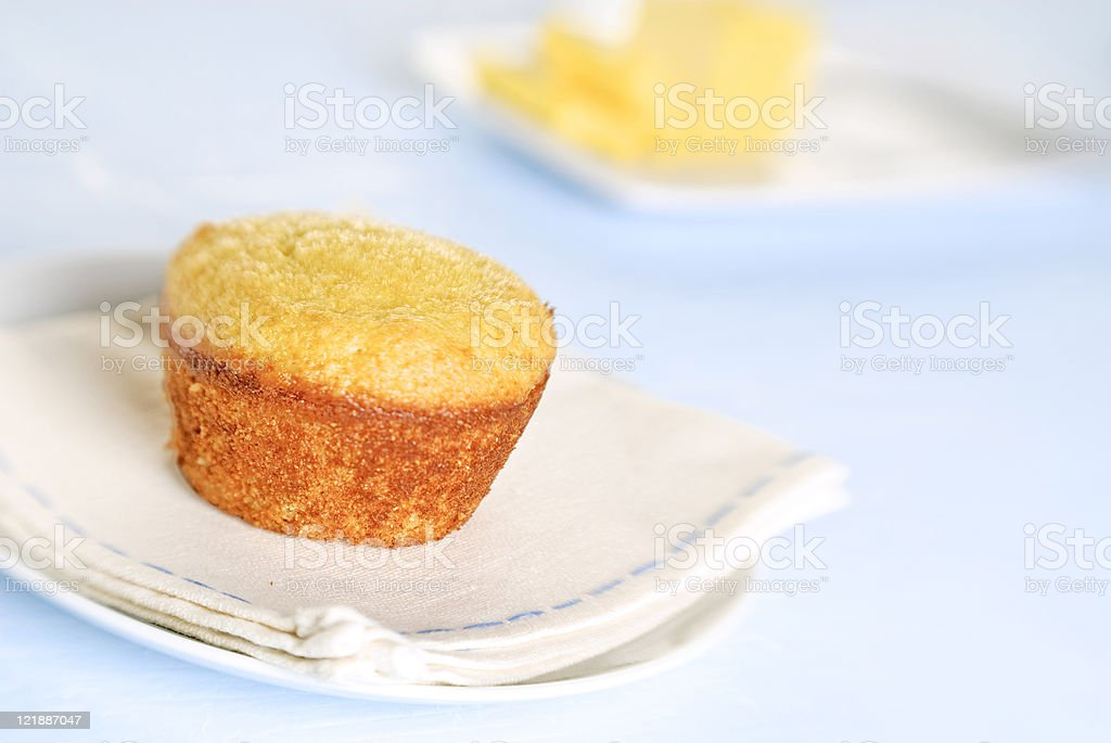 Cornbread Muffin royalty-free stock photo