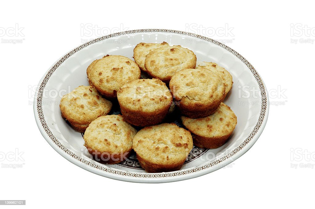 Cornbread Muffins Isolated royalty-free stock photo