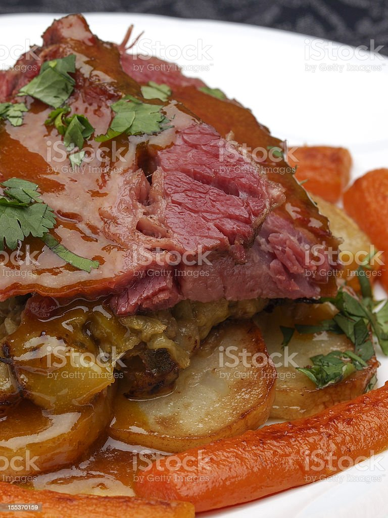 Corned Beef and Cabbage Dinner royalty-free stock photo