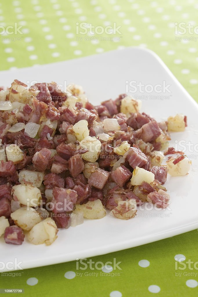 Corned Beef Hash Breakfast royalty-free stock photo