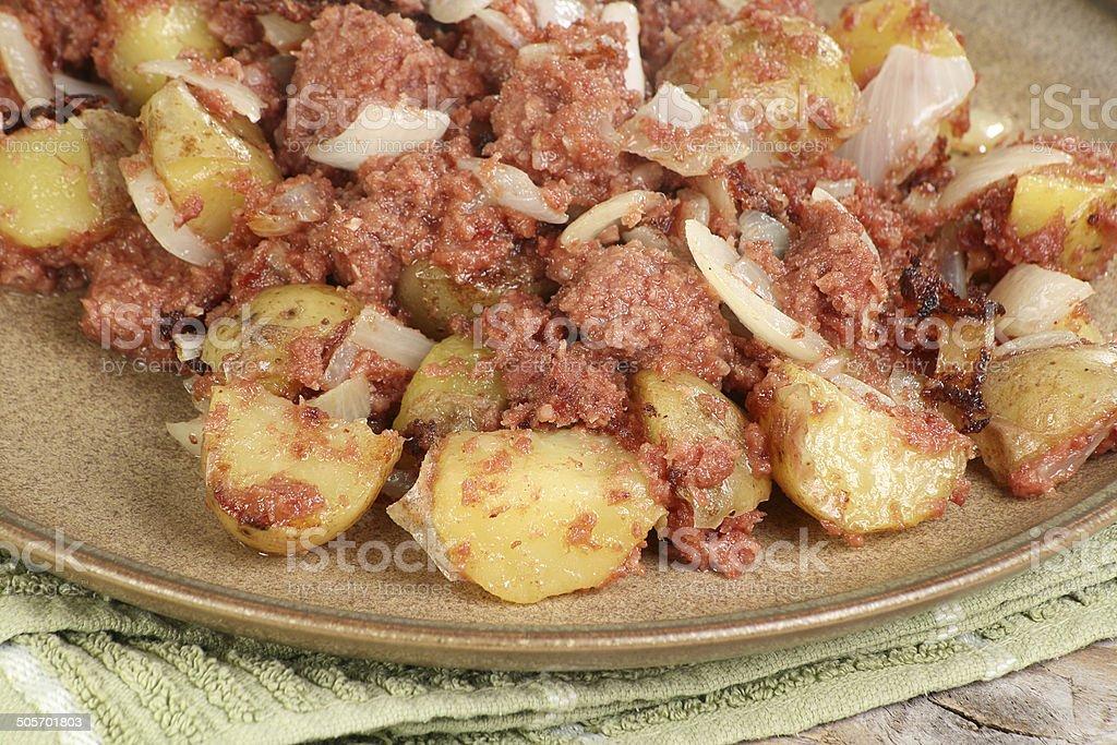 Corned Beef Hash royalty-free stock photo