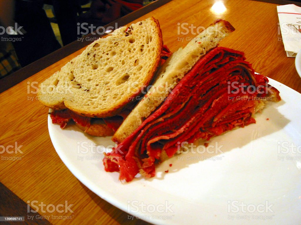 Corned Beef Sandwich royalty-free stock photo
