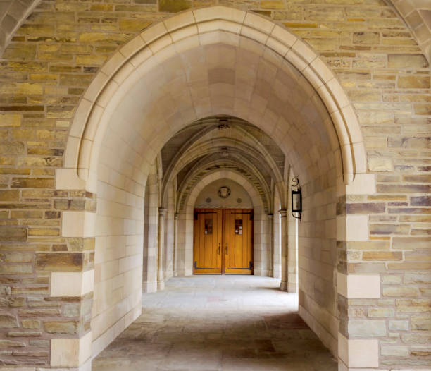 Cornell University Hall of one of the buildings of Cornell University, Ithaca, USA, summer 2019 ivy league university stock pictures, royalty-free photos & images
