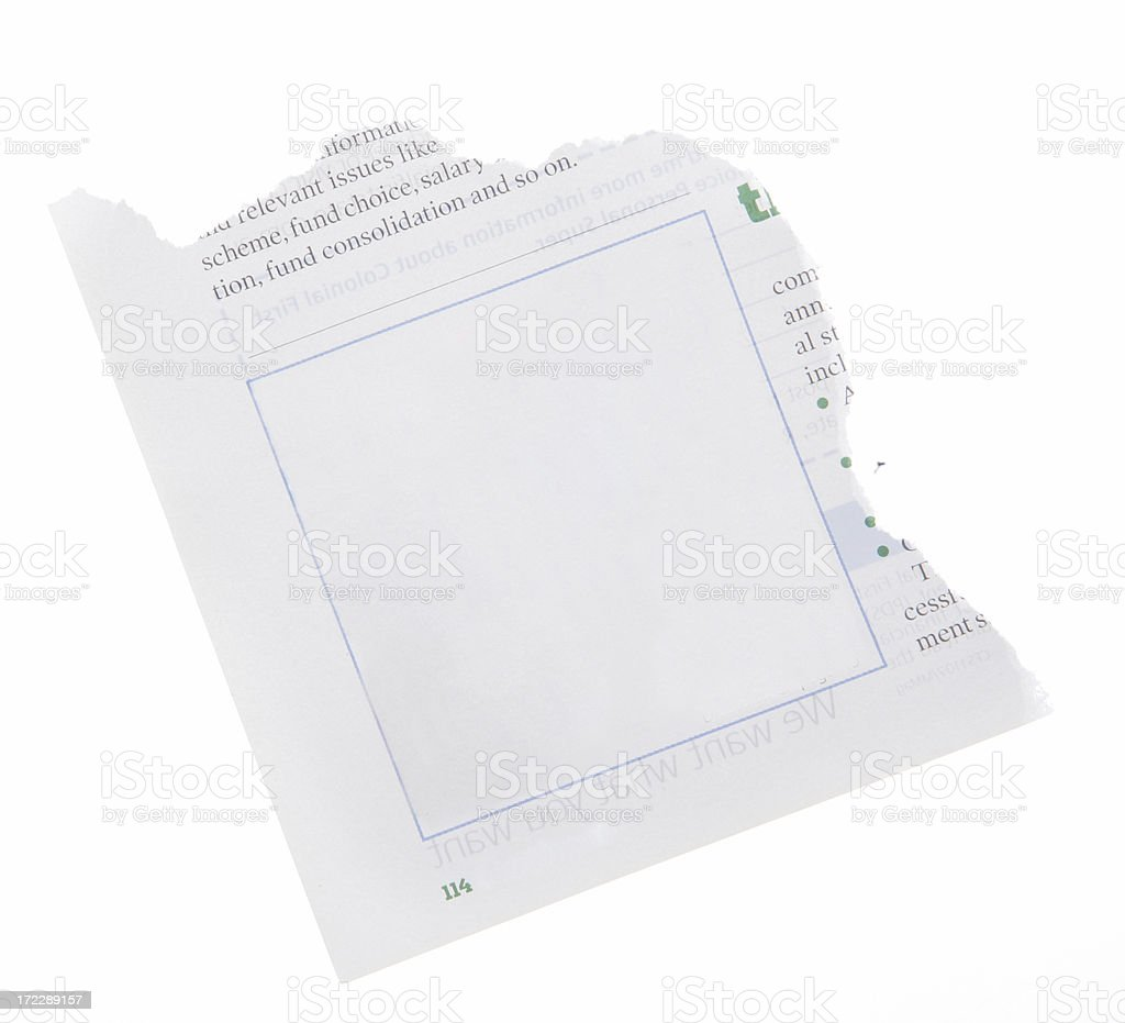 Corner Ad Torn out royalty-free stock photo